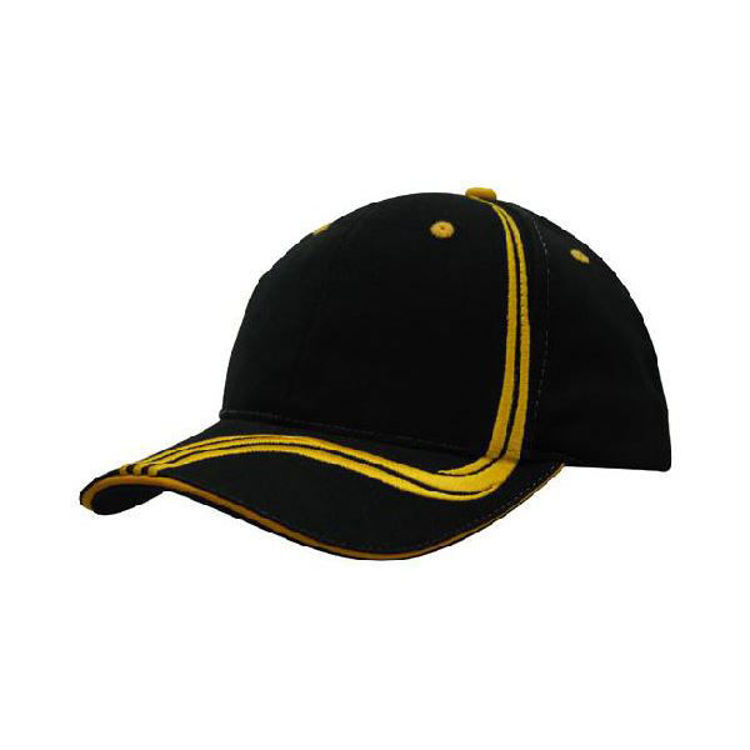 Picture of 6 PNL Cap with Sandwich & Emb Lines