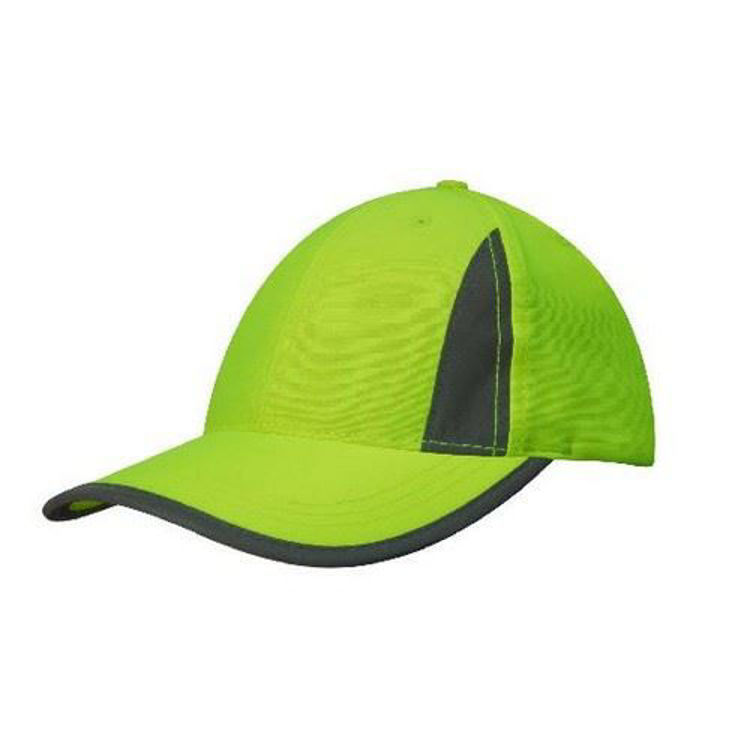 Picture of Luminescent Safety Cap with Reflective Inserts and Trim