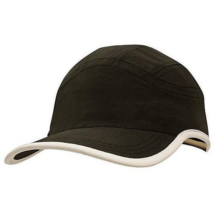 Picture of Microfibre Sports Cap with peak & crown trim