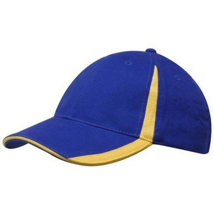 Picture of Brushed Heavy Cotton with inserts on the visor & crown